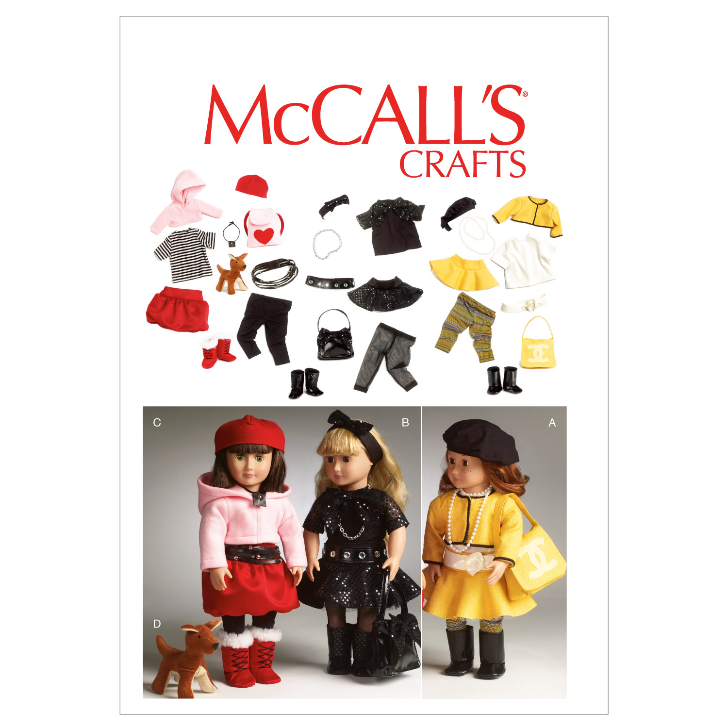 McCall's Crafts Doll Clothes-M6669