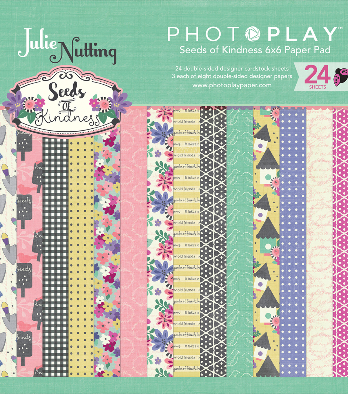 Photo Play Double-Sided Paper Pad 6\u0022X6\u0022-Seeds Of Kindness 8 Design