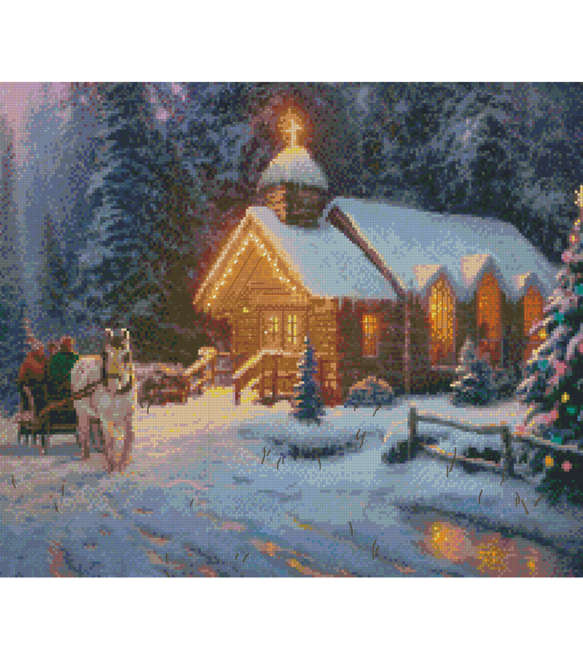 Christmas Chapel I Counted Cross Stitch Kit 16 Count