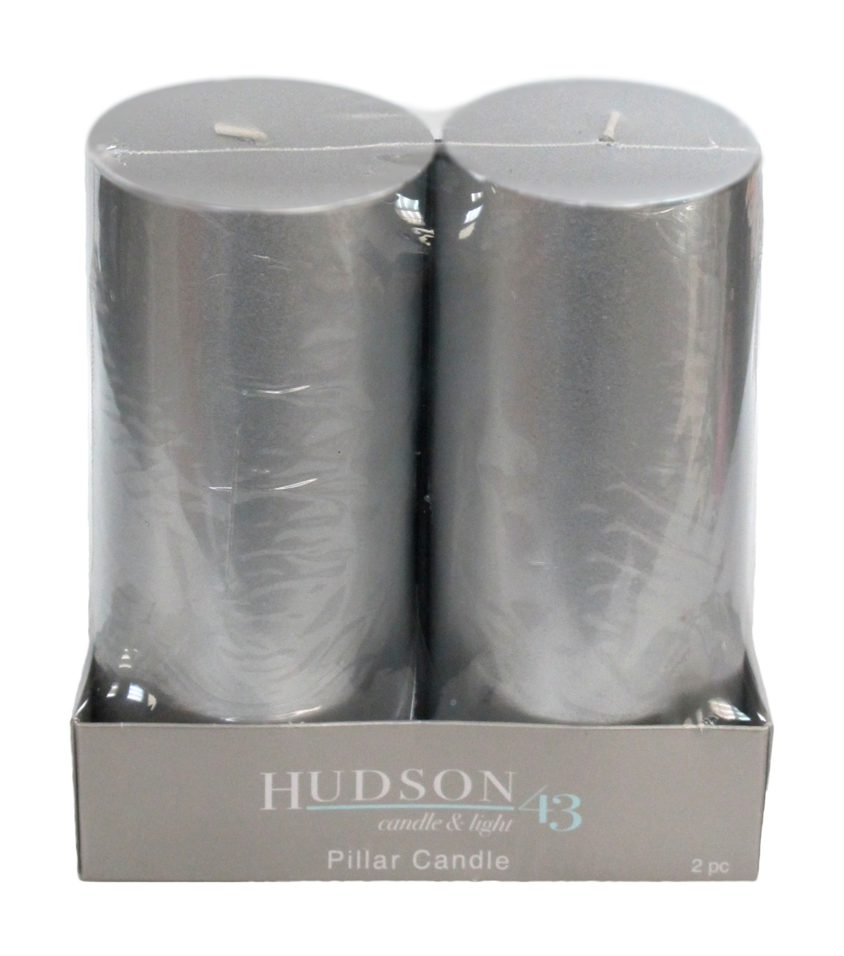Hudson 43™ Candle & Light Collection 2  Pack 3X6 Silver Pillar