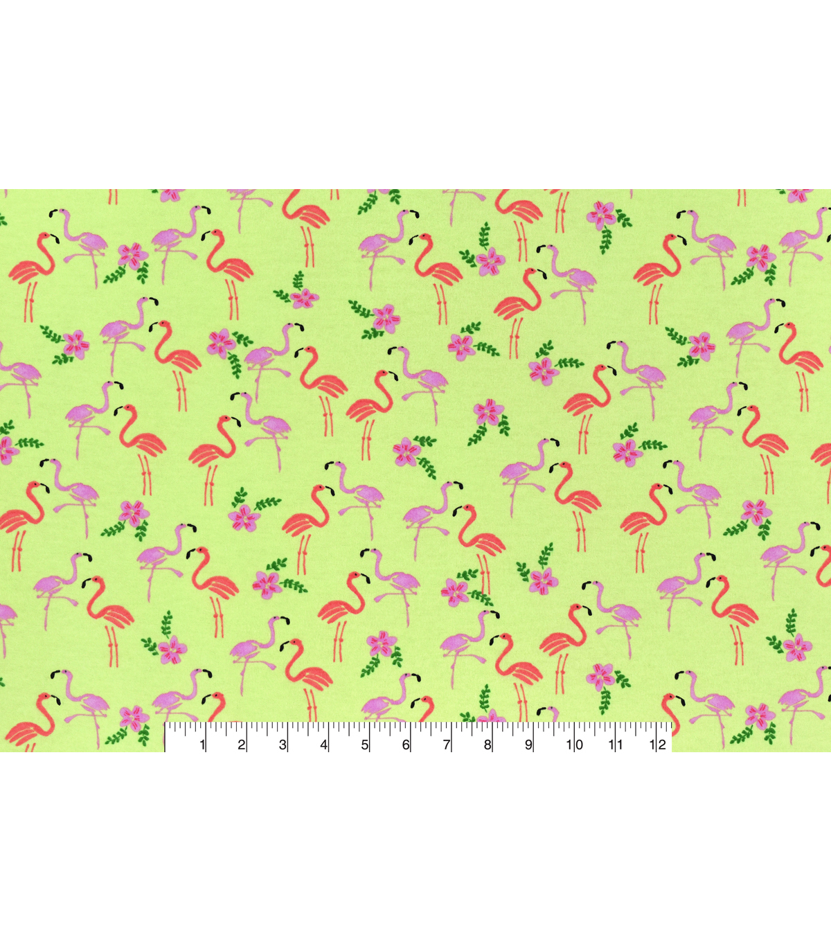 Snuggle Flannel Fabric 42\u0027\u0027-Hawaiian Flamingos