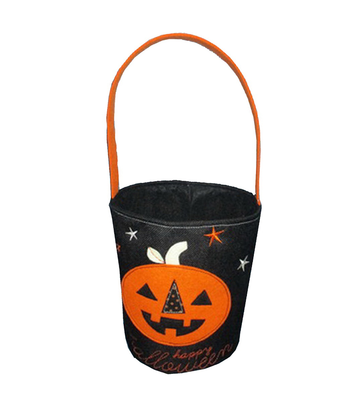 Maker\u0027s Halloween Fabric Treat Bag-Pumpkin