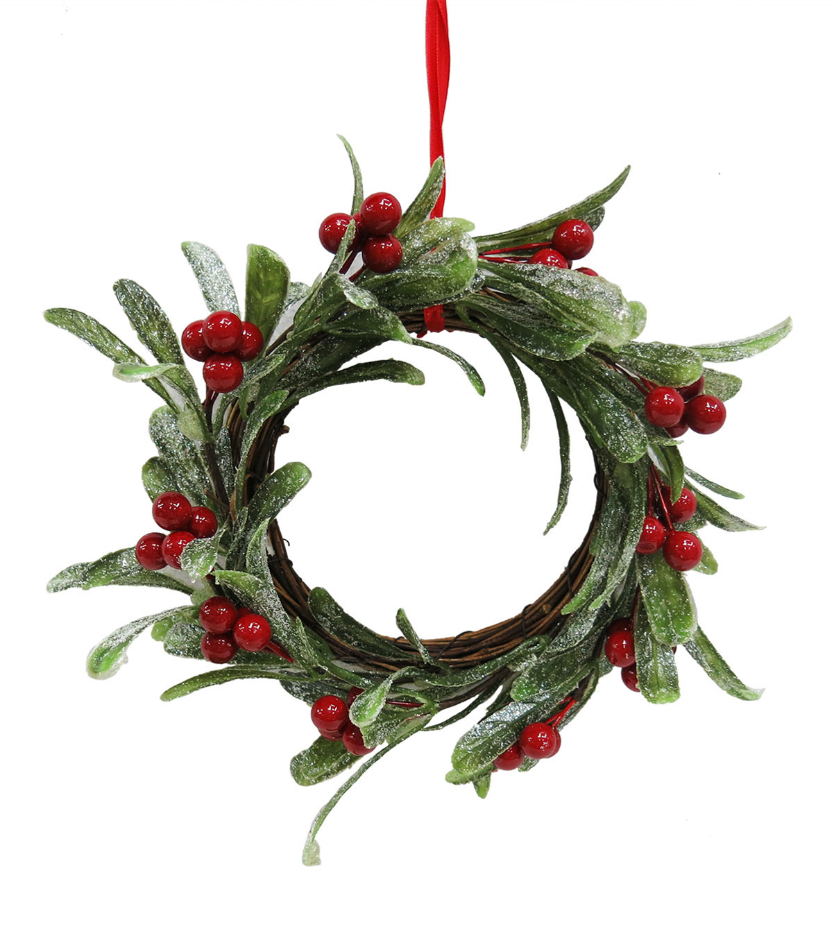 Blooming Holiday 9\u0027\u0027 Grapevine Decor-Red Berries