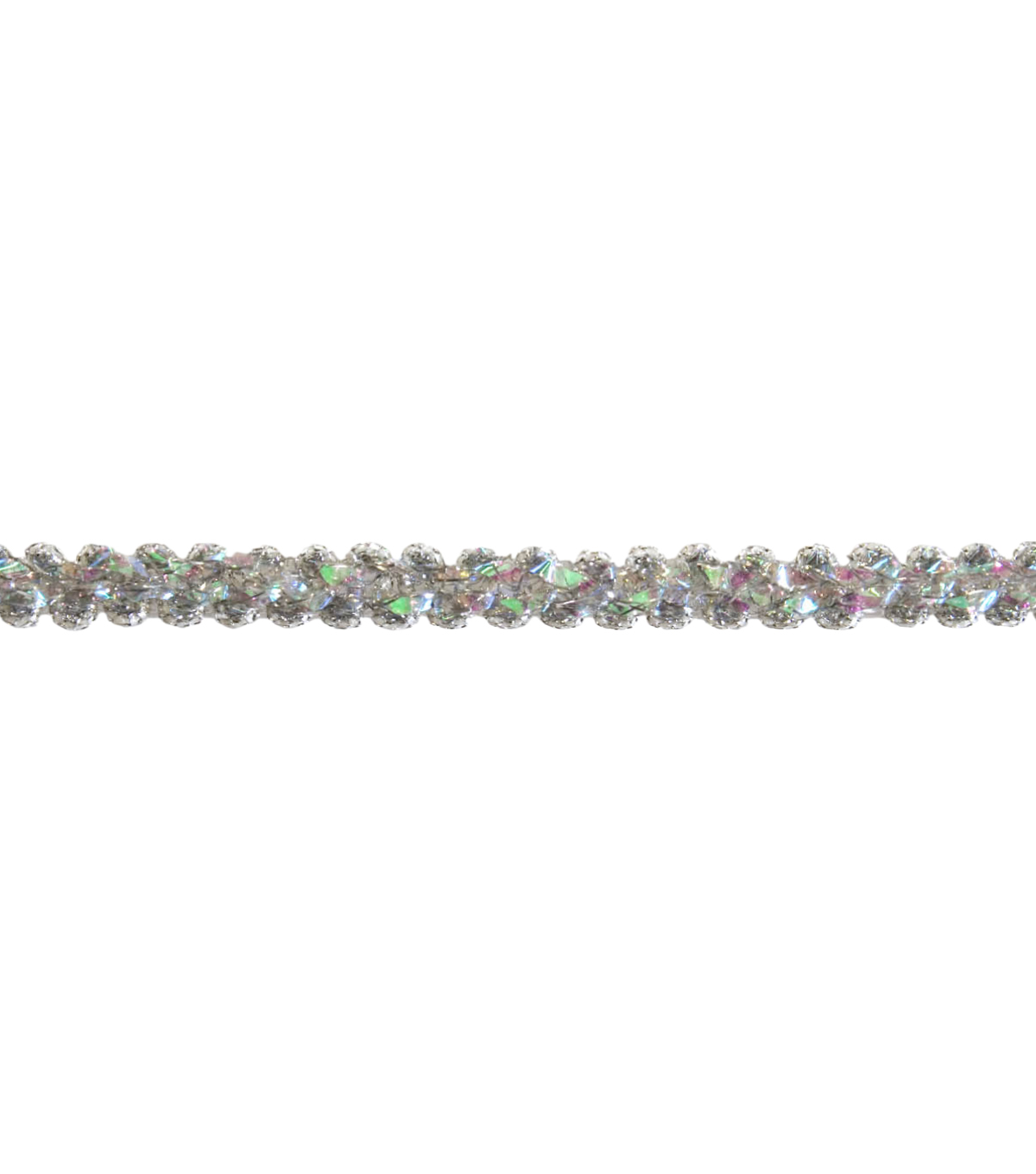 3/8\u0022 Silver Metallic Scroll Apparel Trim