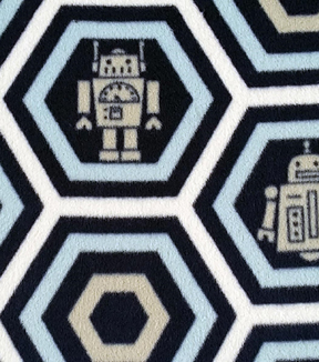 "Nursery Fleece Fabric 59""-Little Bot Honeycomb"