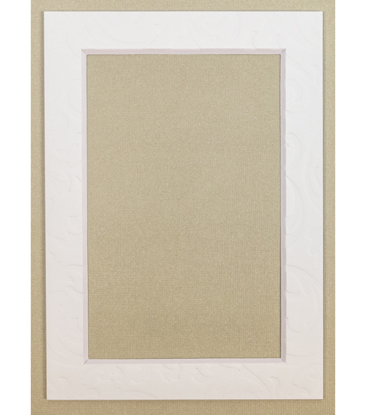 Framing Mats 5X7-White With Raised Design