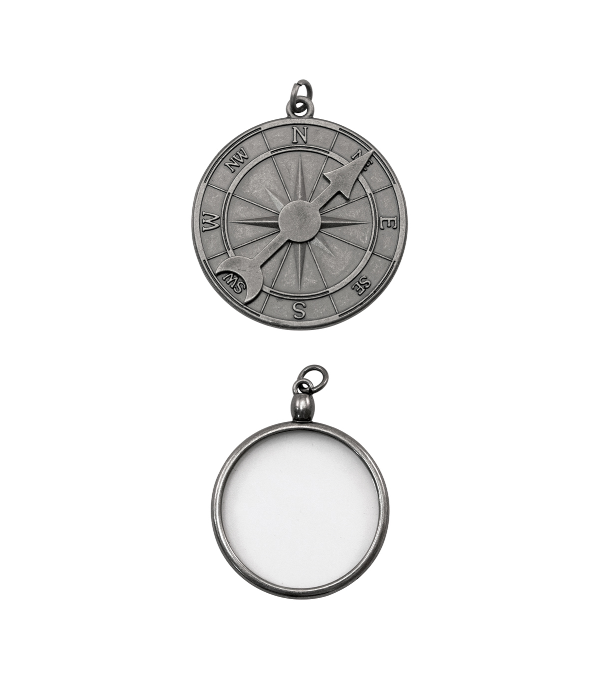 Tim Holtz® Assemblage Pack of 2 Compass & Monocle Charms