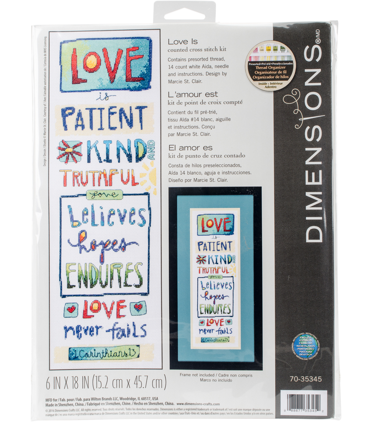 Love Is Counted Cross Stitch Kit-6\u0022X18\u0022 14 Count