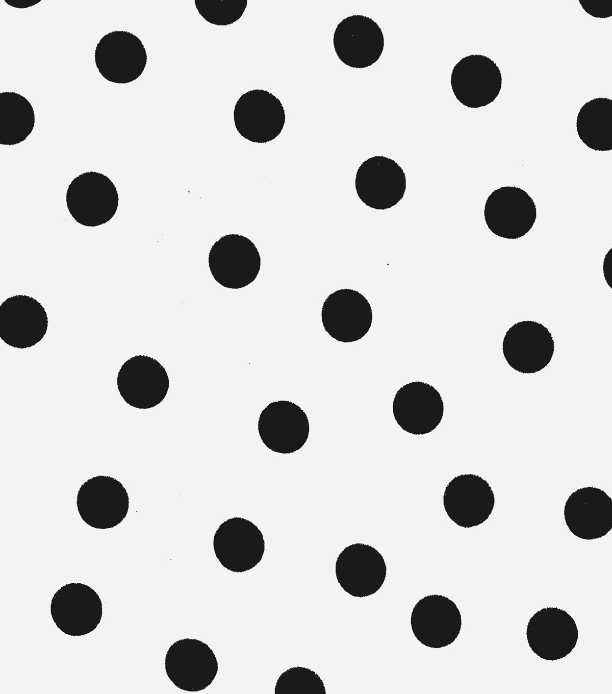 Oilcloth- Black Dots On White