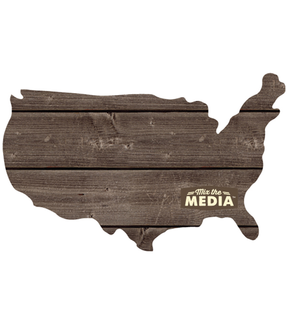 Jillibean Soup Mix The Media Shaped Wooden Plank-13.5\u0022X11.25\u0022