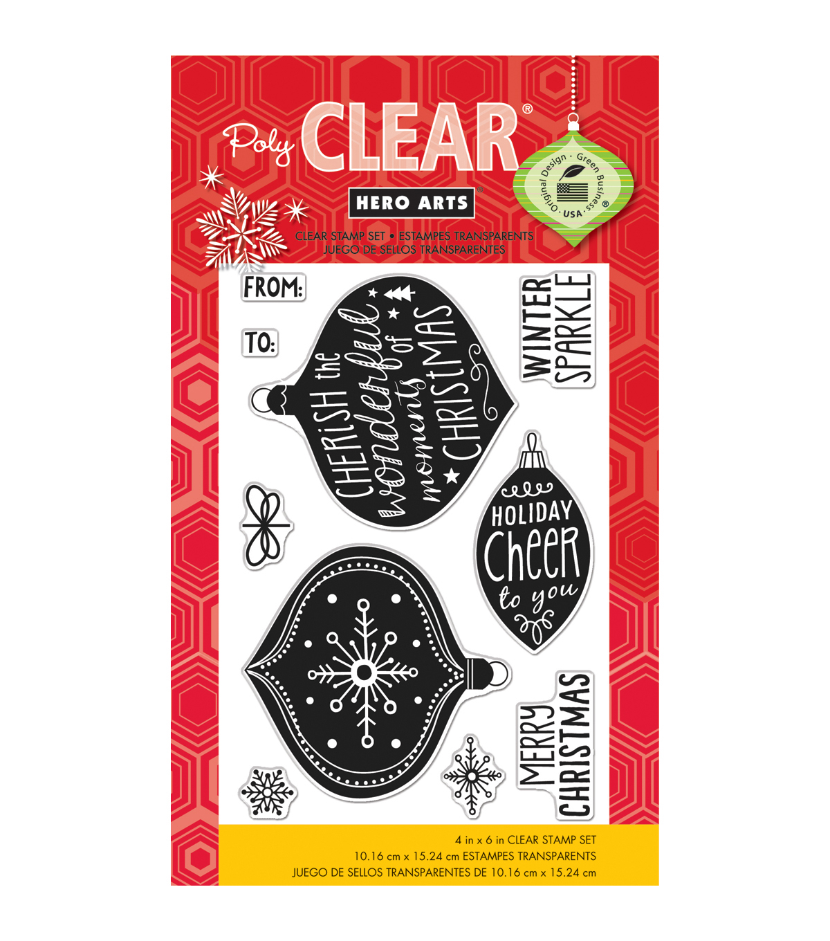 Hero Arts Winter Sparkle Clear Stamps