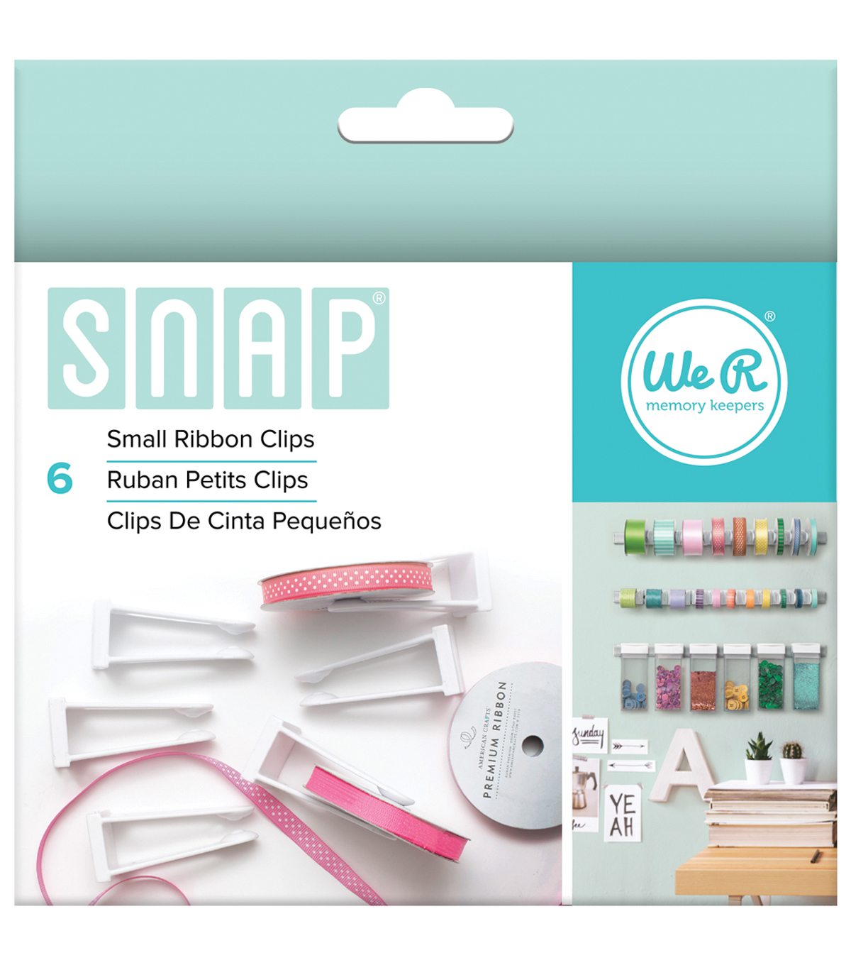 We R Memory Keepers™ Snap Storage 6ct Small Ribbon Clips