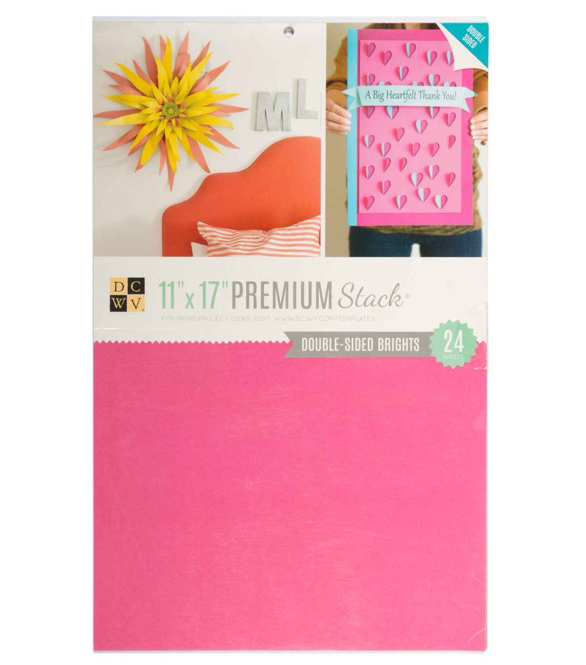 DCWV 11\u0022x17\u0022 Double-sided Cardstock Stack: Brights