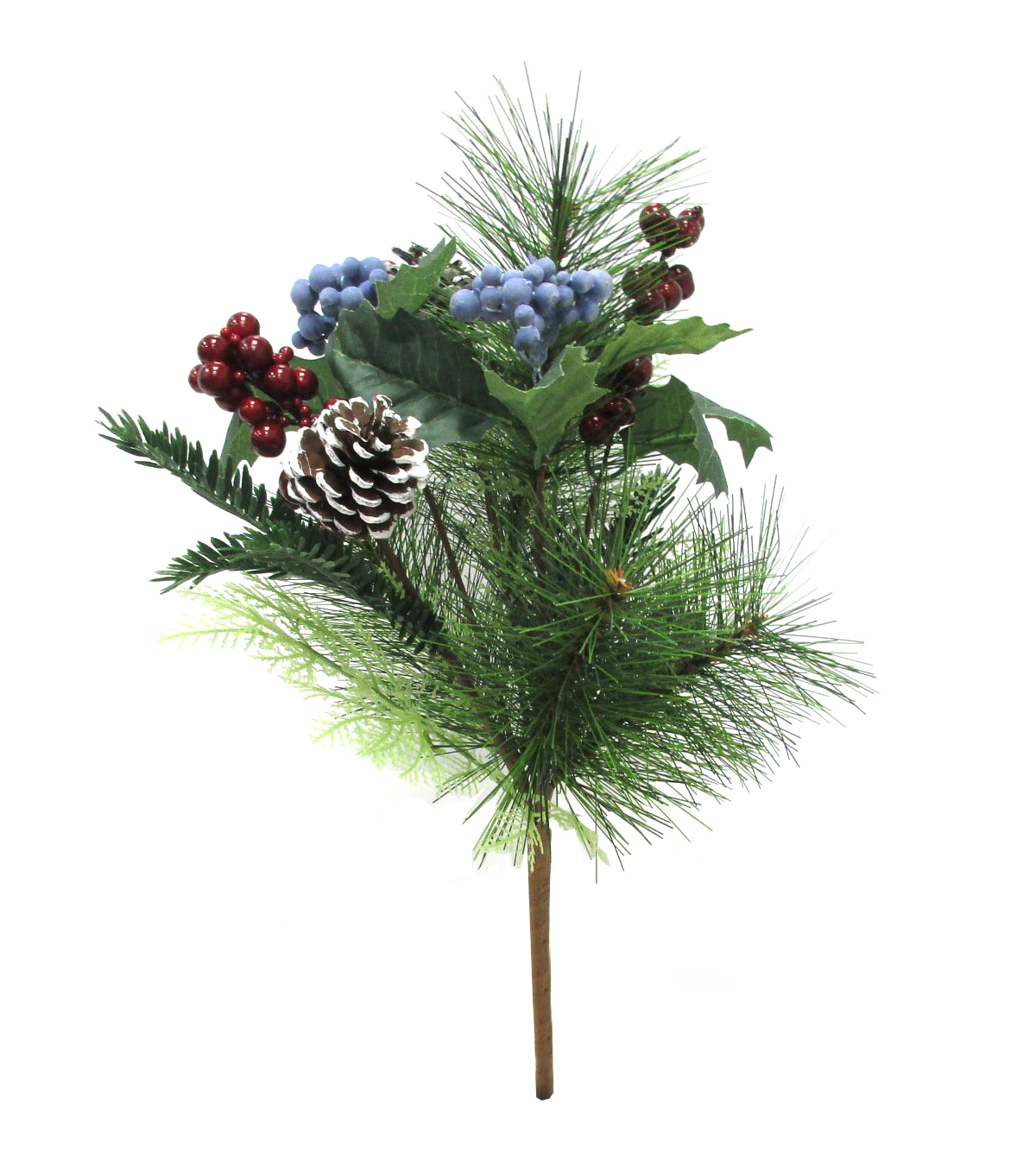 Blooming Holiday Pine & Berry Bush-Blue