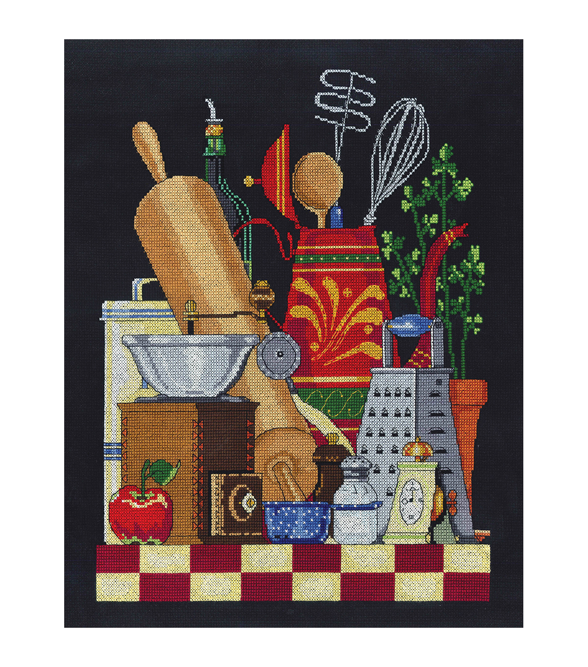"Kitchen Still Life Counted Cross Stitch Kit-11""X14"" 14 Count"