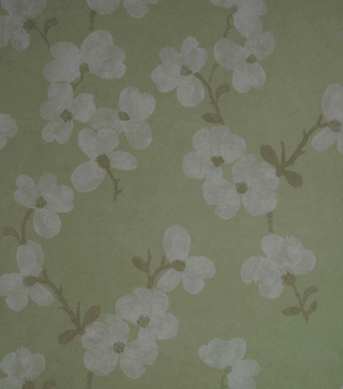 Bebe Light Green Blossom Wallpaper Sample