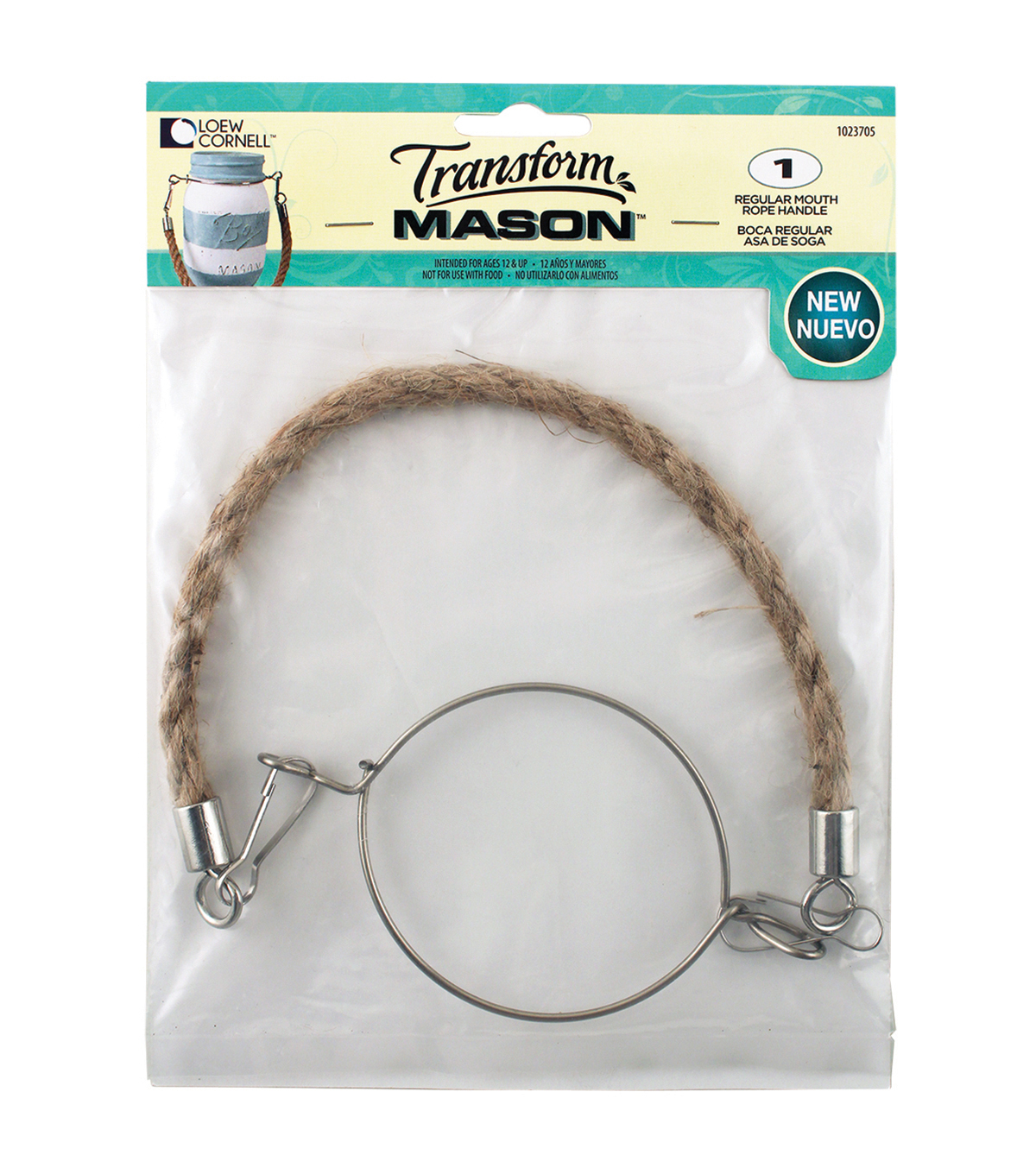 Transform Mason Rope Handle 1/Pkg-Regular Mouth