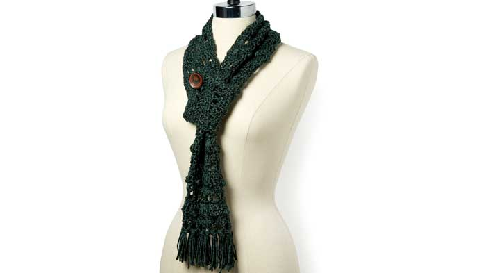 Crochet Scarf With Button