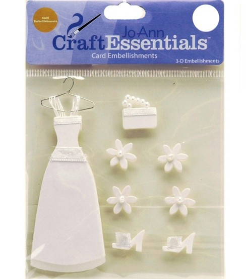 Craft Essential Wedding Dress Card Embellishment