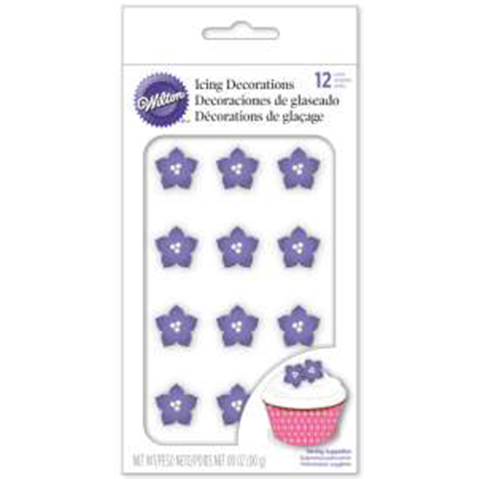 Wilton® Royal Icing Decorations-Purple Posy 12/Pkg