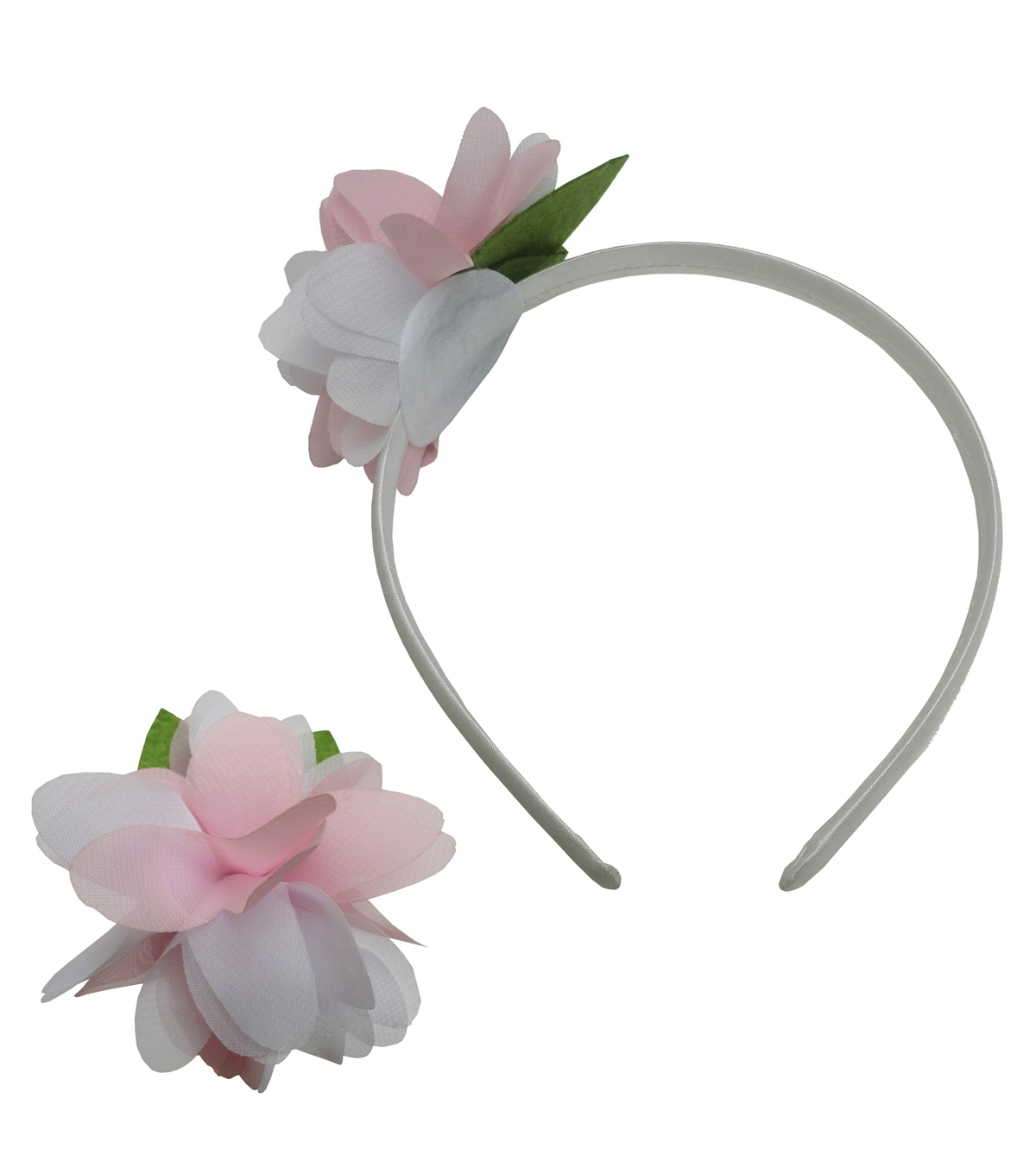 White Headband with Multi Flower