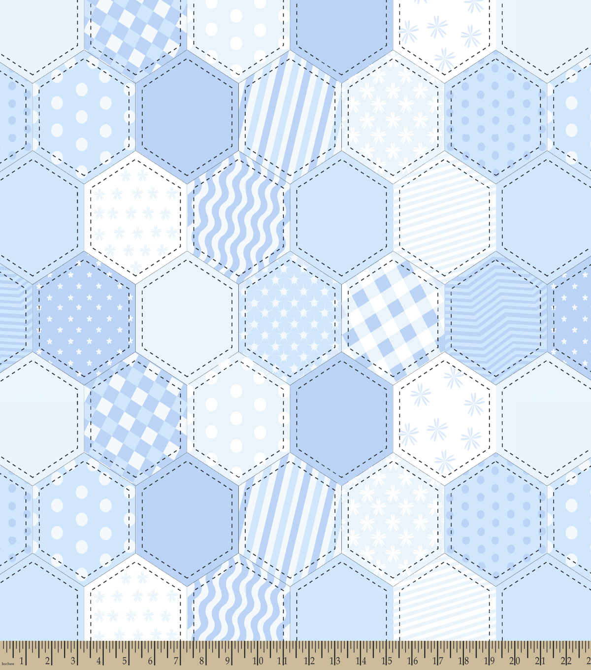 Boy Quilt Pattern Print Fabric