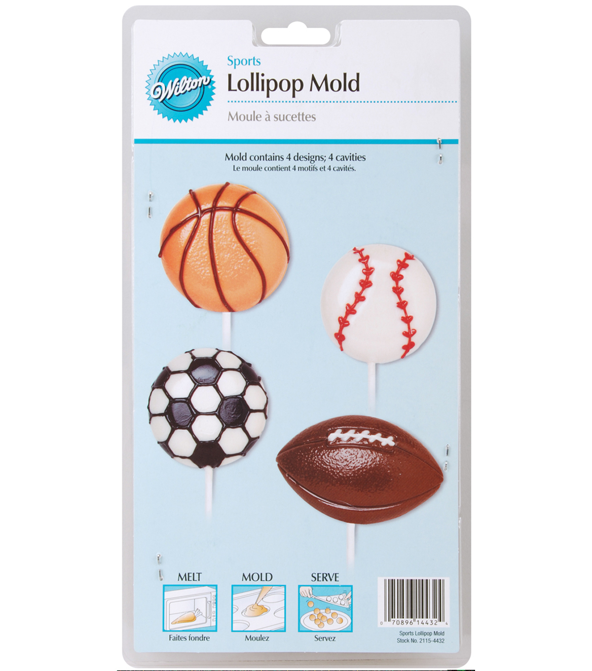 Wilton® Lollipop Mold-Sports