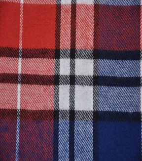 Flannel Shirting Fabric 42.9\u0022-Red Navy Green White