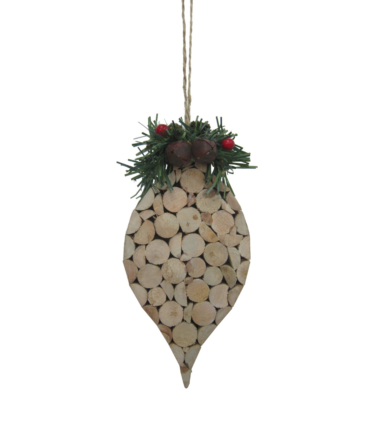 Maker\u0027s Holiday Christmas Handmade Holiday Cork Wood Drop Ornament