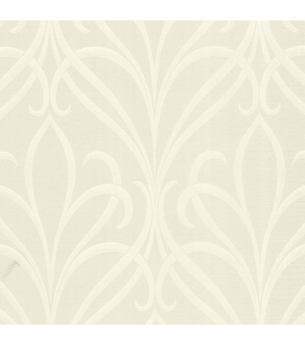 Lalique Cream Nouveau Damask Wallpaper Sample