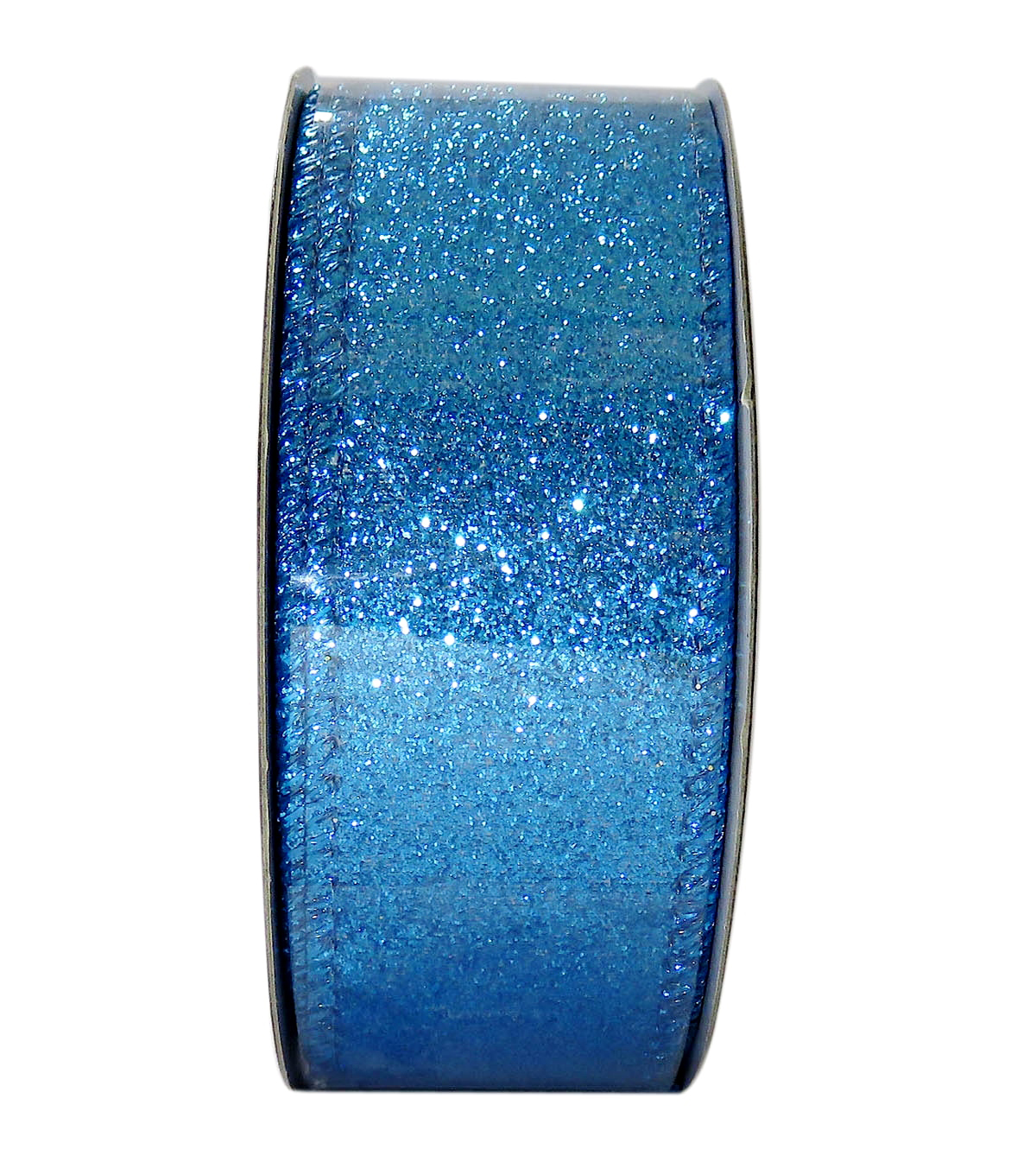 Decorative Ribbon 1.5\u0027\u0027 X 15\u0027-Blue Glitter Solid