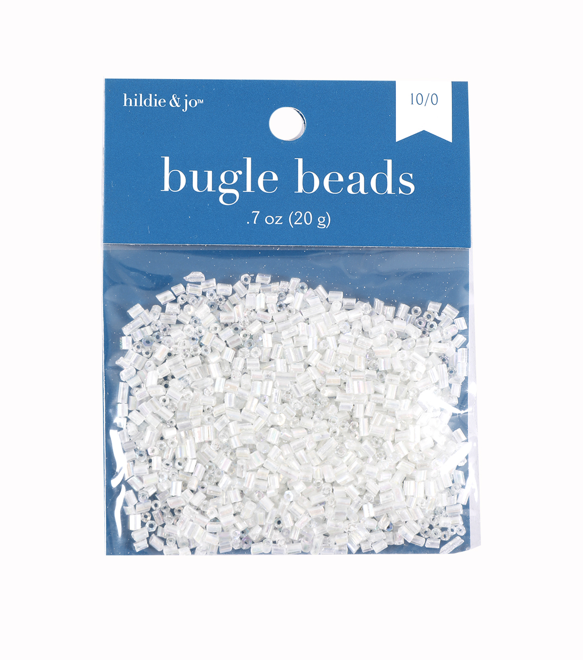Glass Seed Beads-Clear, Rainbow Effect, 10/0, 20 grams