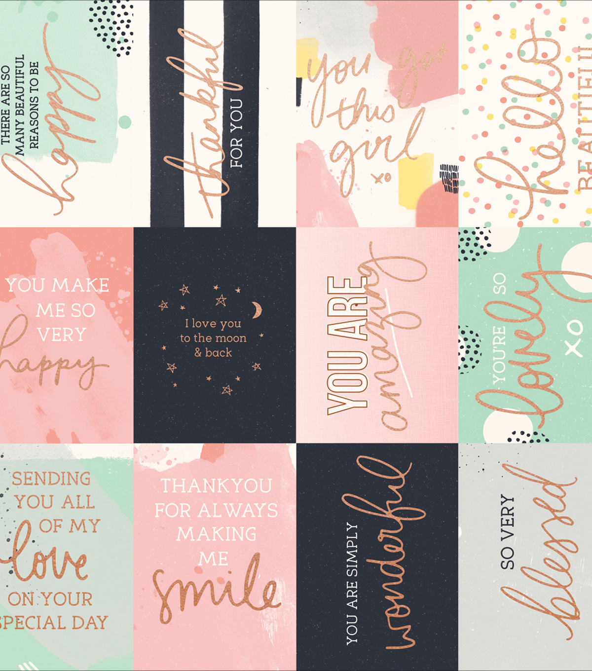 Kaisercraft Daydreamer Foiled Cardstock 12\u0022X12\u0022-Happy Moments