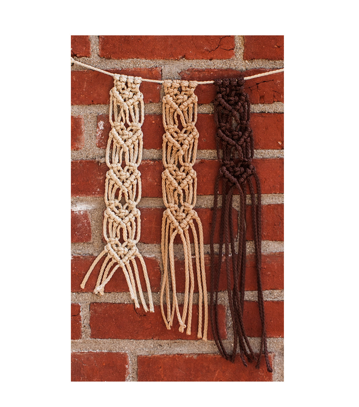 Pepperell Crafts Mini Macrame Hanging Heart Kit