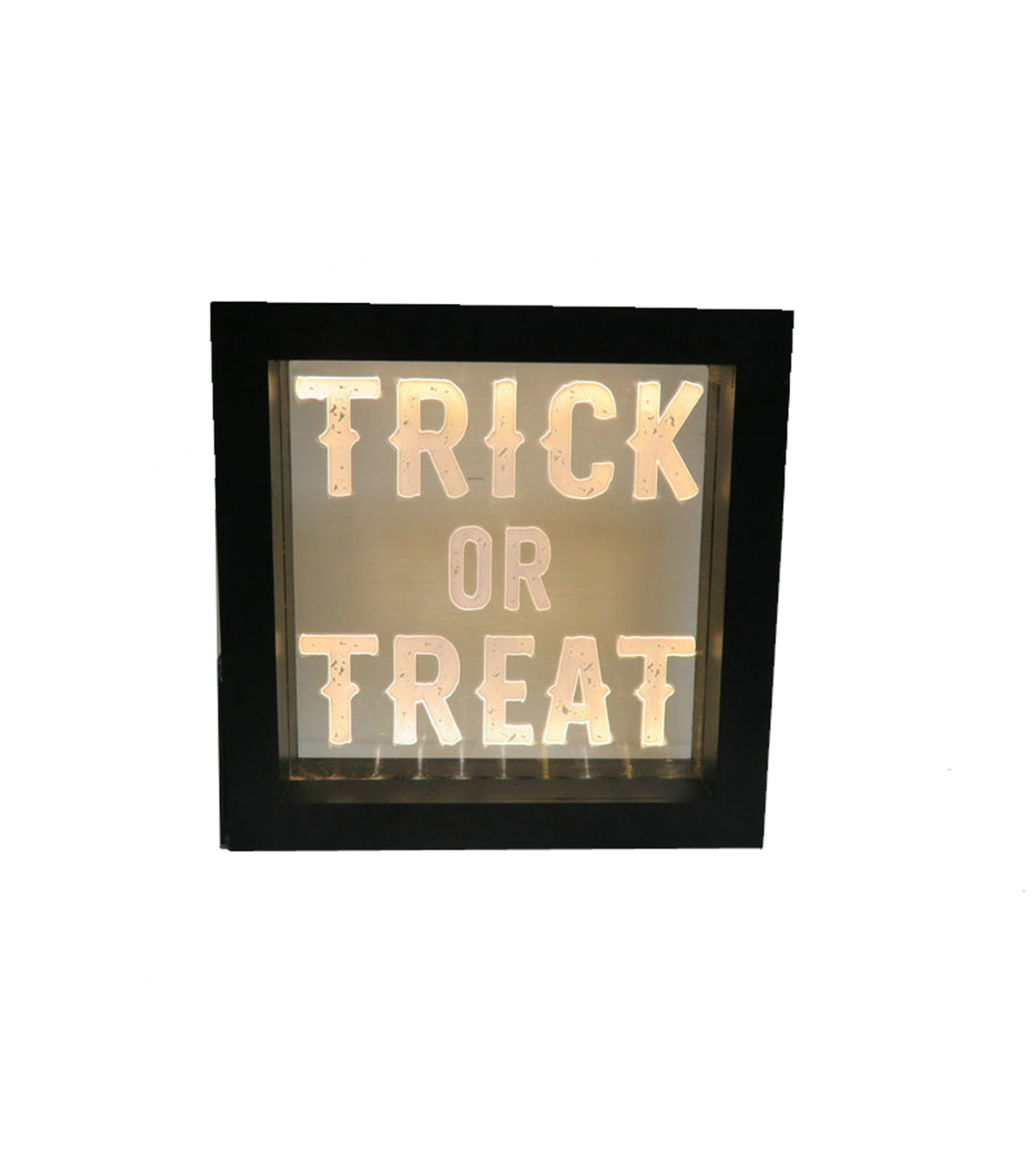 Maker\u0027s Halloween LED Plastic Word Block-Trick or Treat