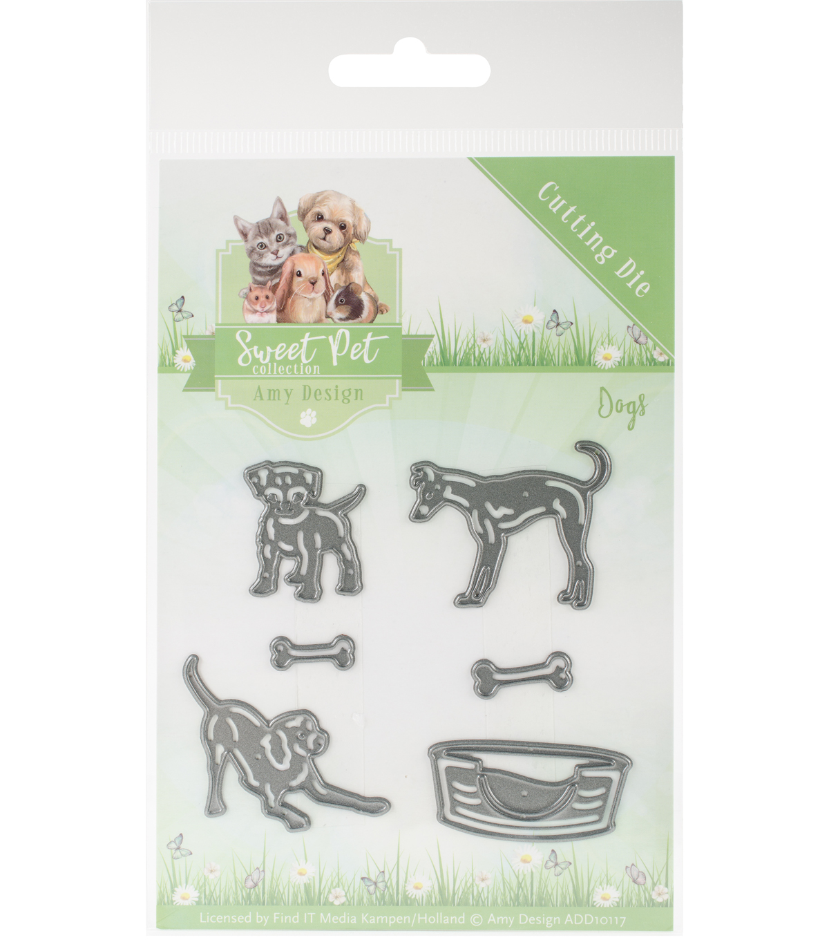 Find It Trading Sweet Pet Amy Design 6 pk Dies-Dogs