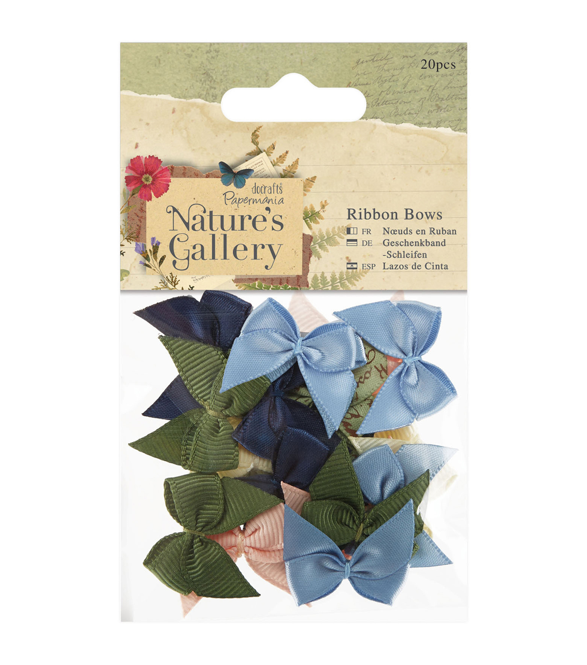 Papermania Nature\u0027s Gallery 20pcs Ribbon Bows