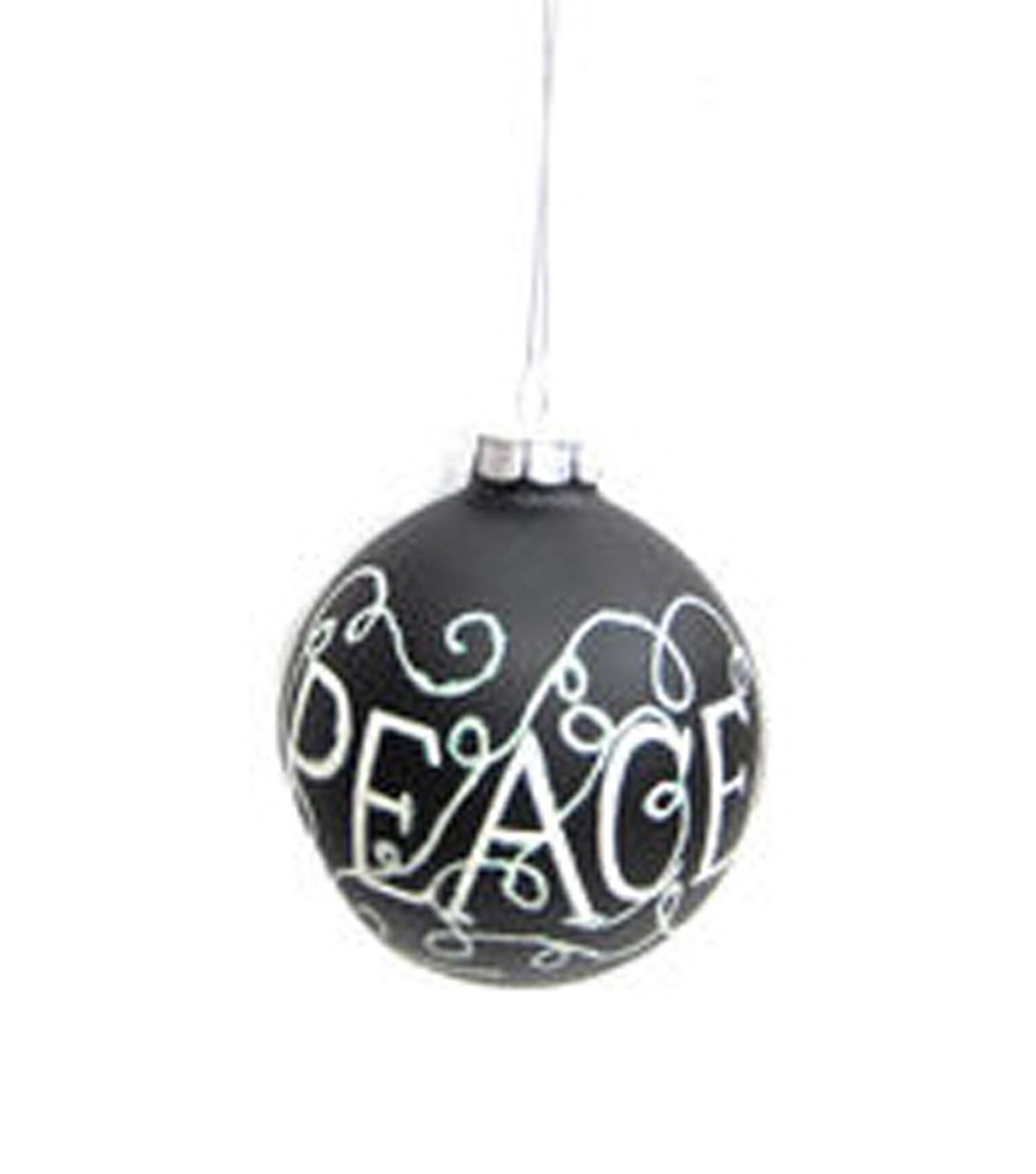 Holiday Cheer Chalkboard Peace Glass Ball Ornament