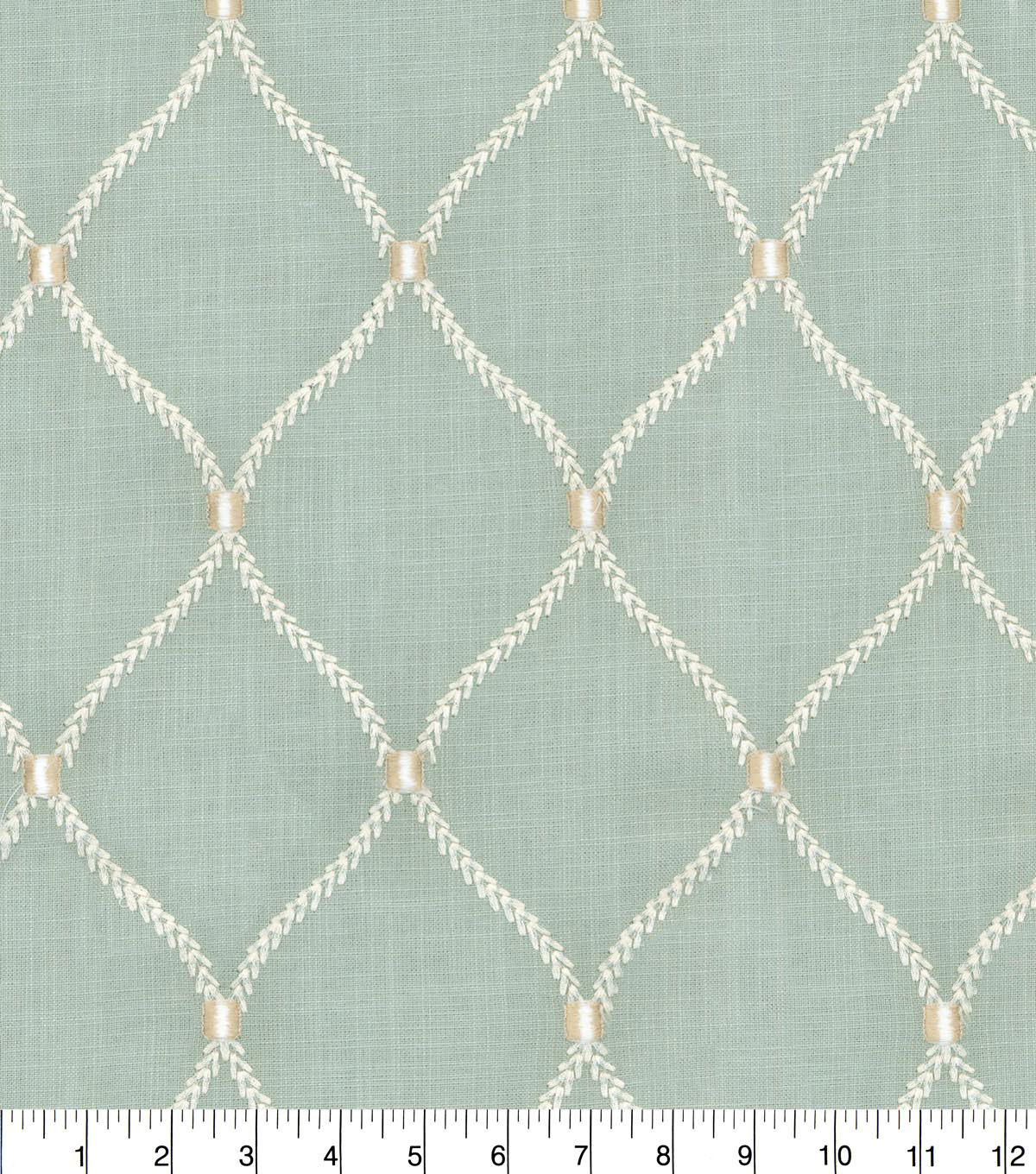 Williamsburg Upholstery Fabric 54\u0027\u0027-Shore Deane Embroidery