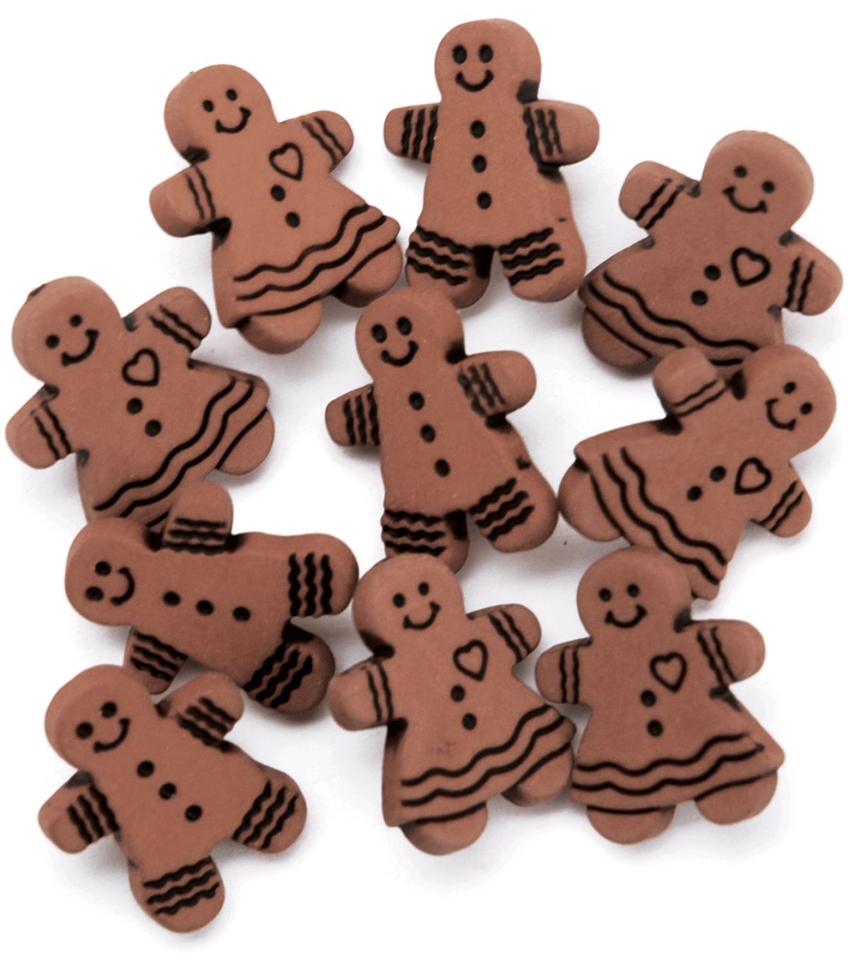 Favorite Findings Buttons-Gingerbread Cookies 9/pk