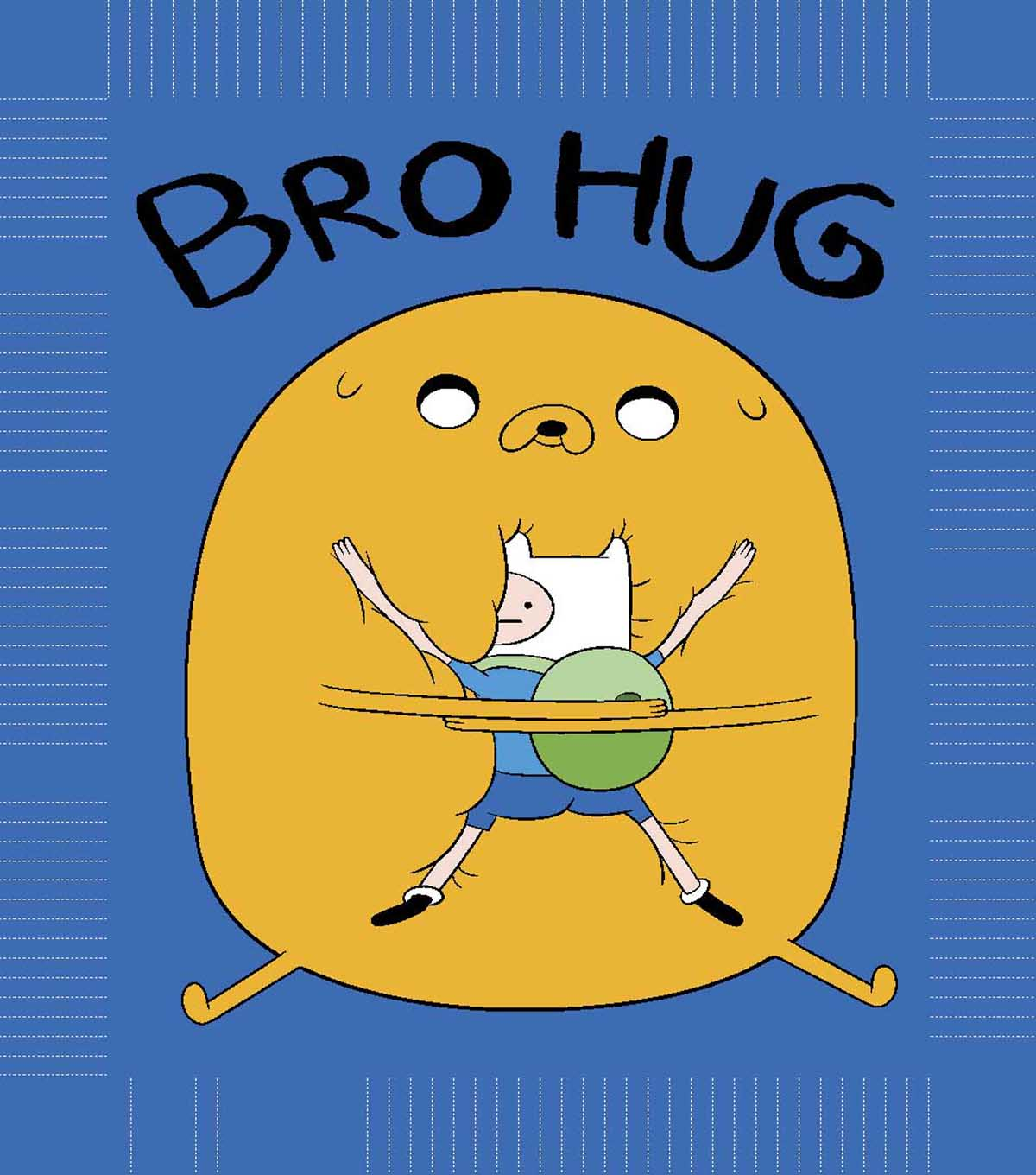 "Adventure Time Bro Hug 48"" No Sew Fleece Throw Kit"