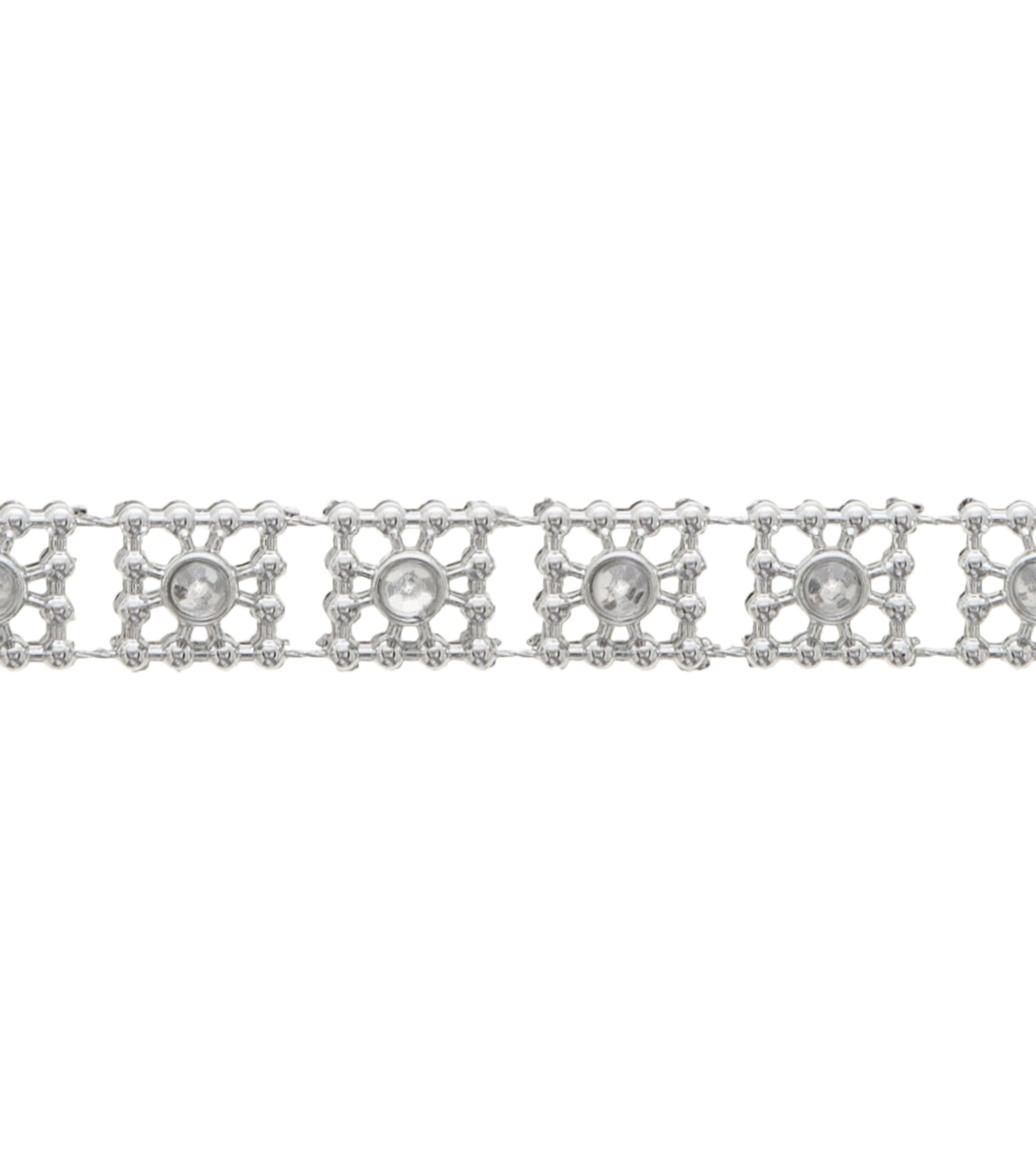 3/8\u0022 Square Rhinestone Apparel Trim