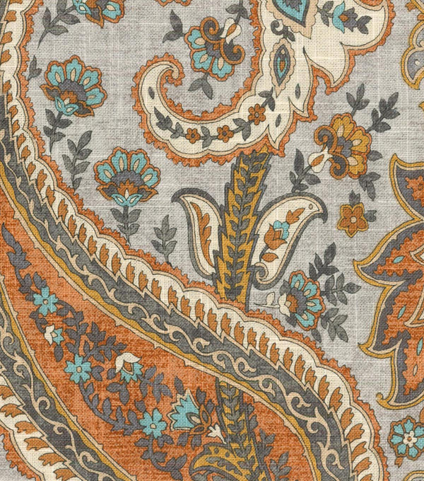 Williamsburg Multi-Purpose Decor Fabric 54\u0027\u0027-Persimmon Plumtree Paisley