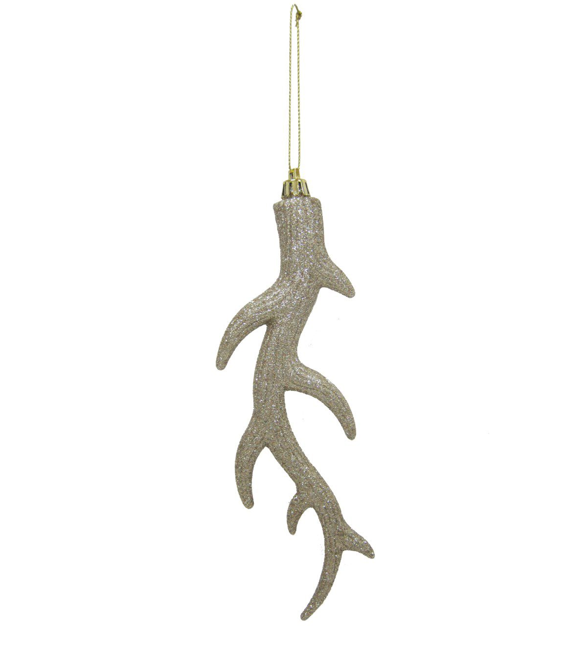 Maker\u0027s Holiday Christmas Glistening Pines Antler Ornament-Gold