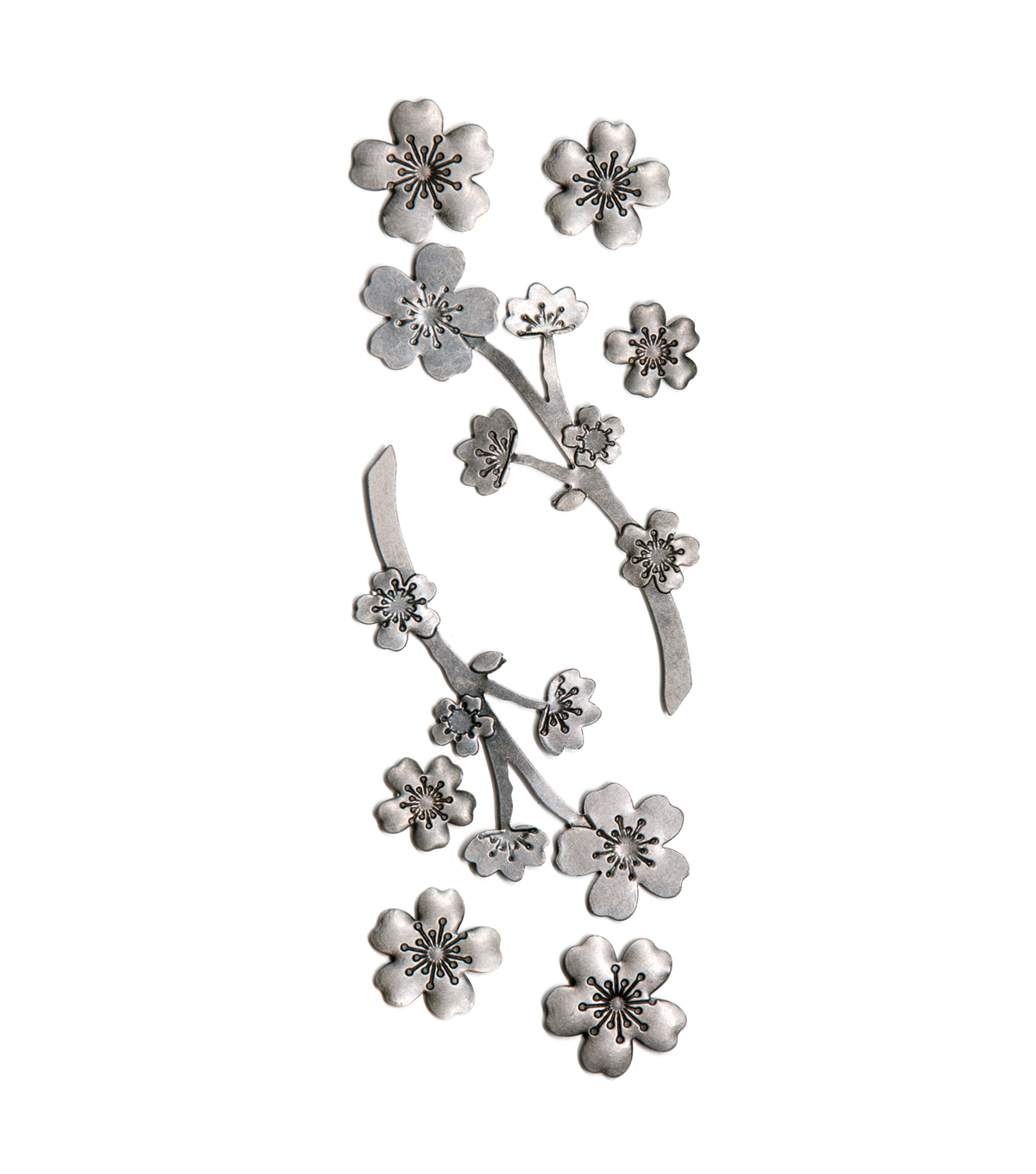 Floral Cherry Blossom Metal Stickers