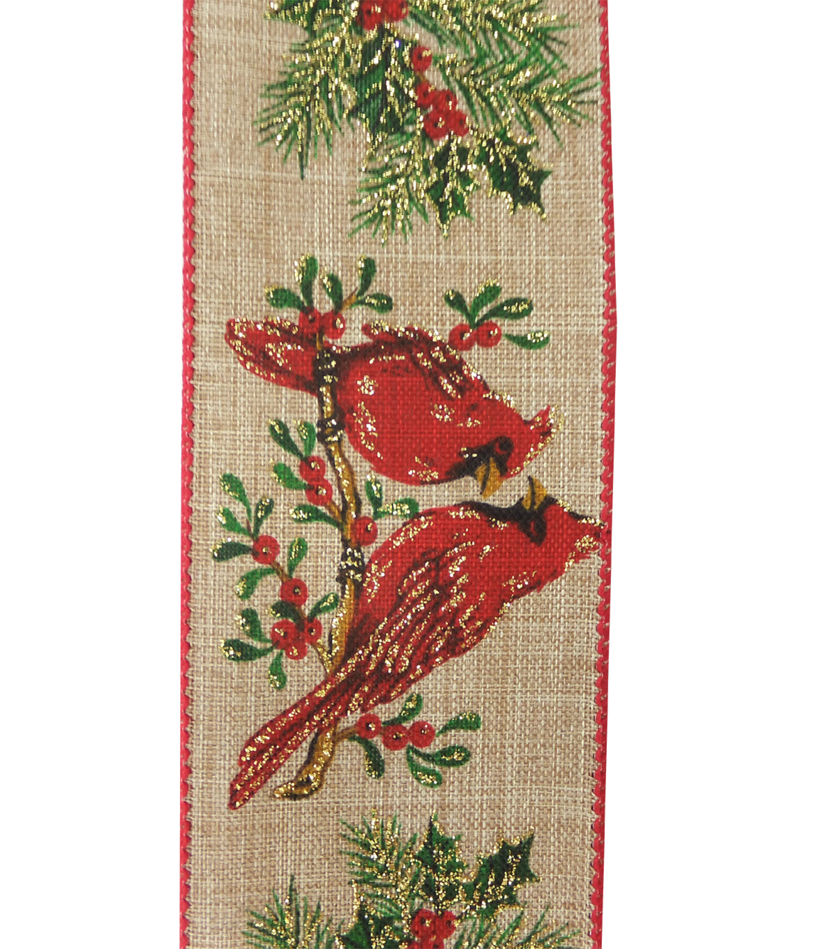Maker\u0027s Holiday Christmas Ribbon 2.5\u0027\u0027x25\u0027-Cardinals