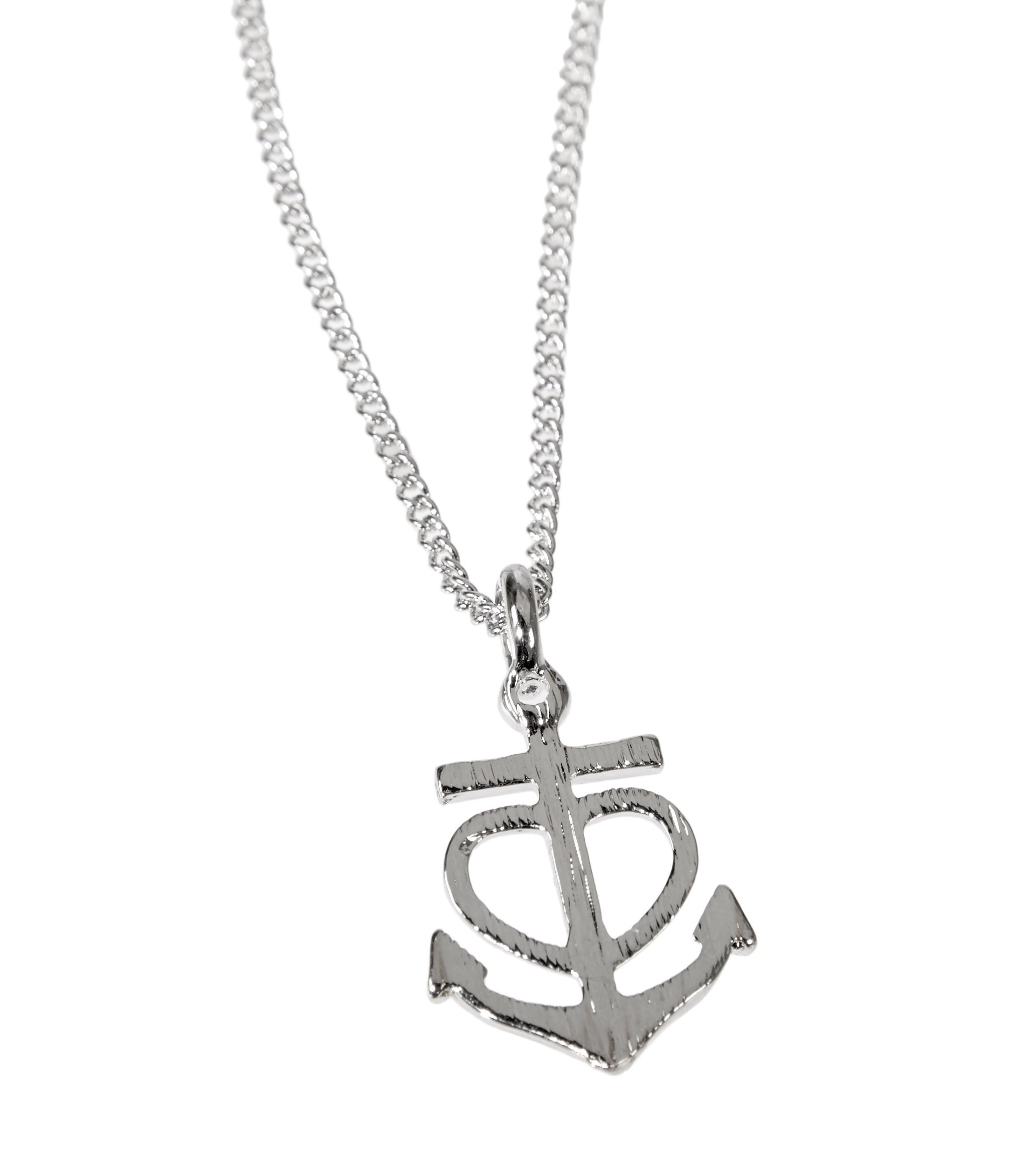 Hey Doll Silver Anchor Heart Necklace