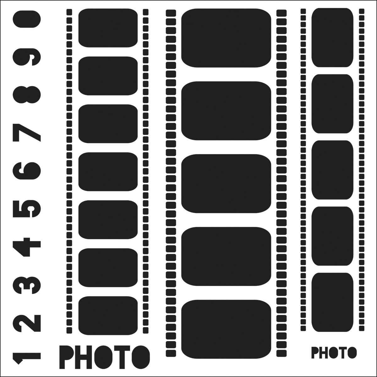 "Crafter's Workshop Template Filmstrips 6"" x 6"""