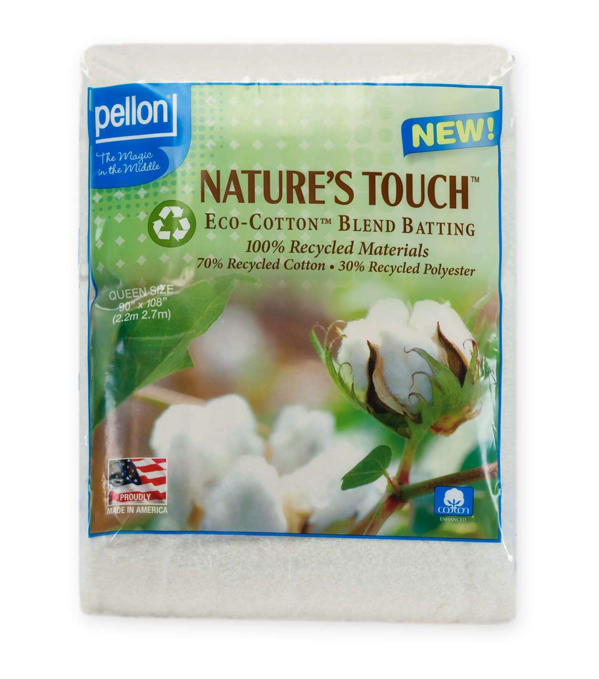 Eco Cotton Blend Ws Queen Pkg Batting