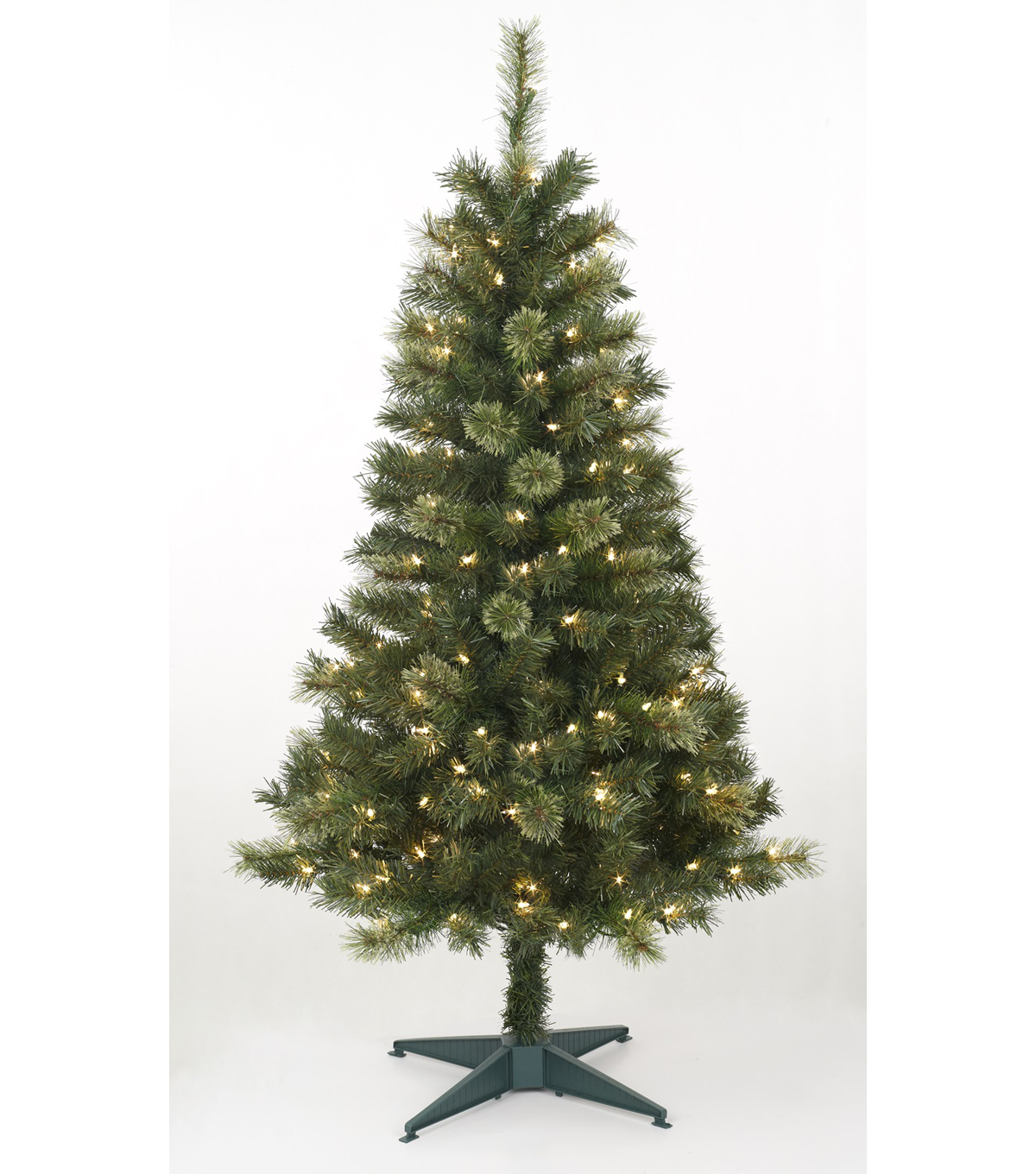 4ft Green Long Needle Prelit Tree